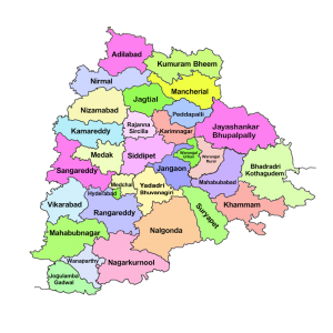Geographical Location of Telangana